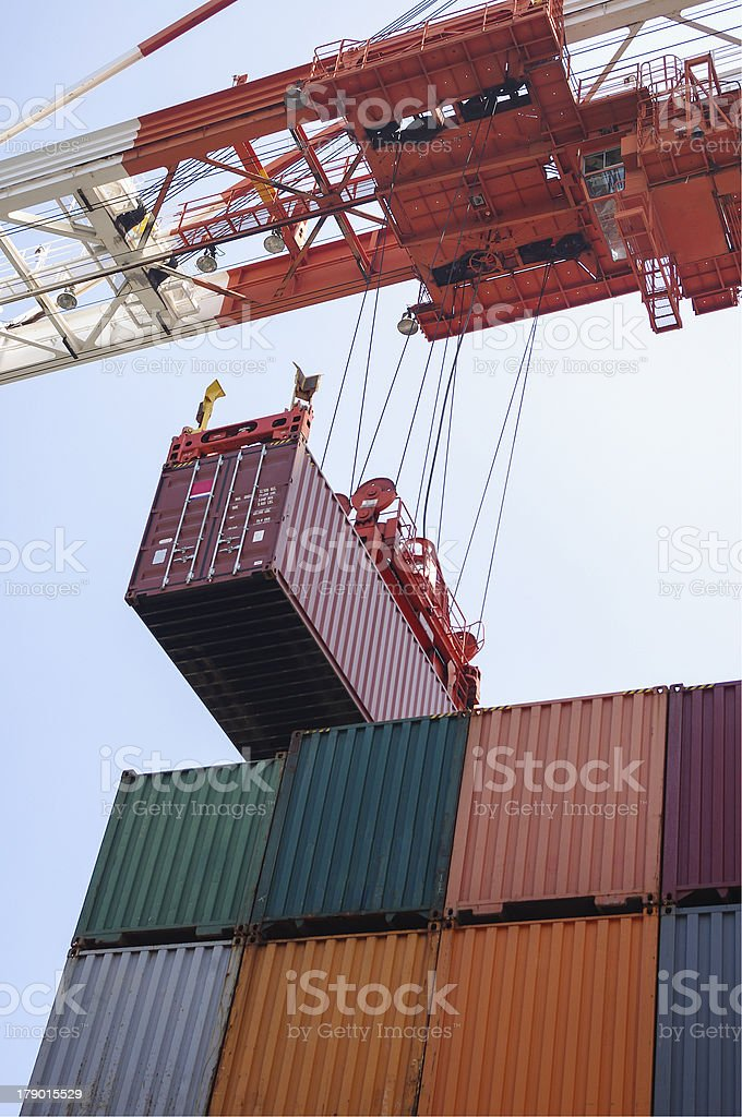 container cargo operation royalty-free stock photo