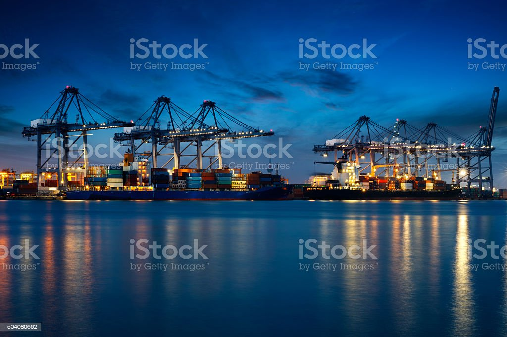 Container Cargo stock photo