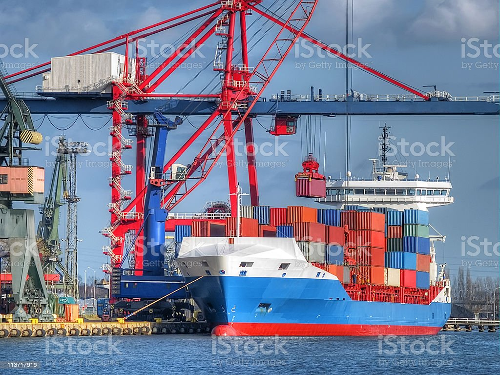 Container Cargo Ship royalty-free stock photo