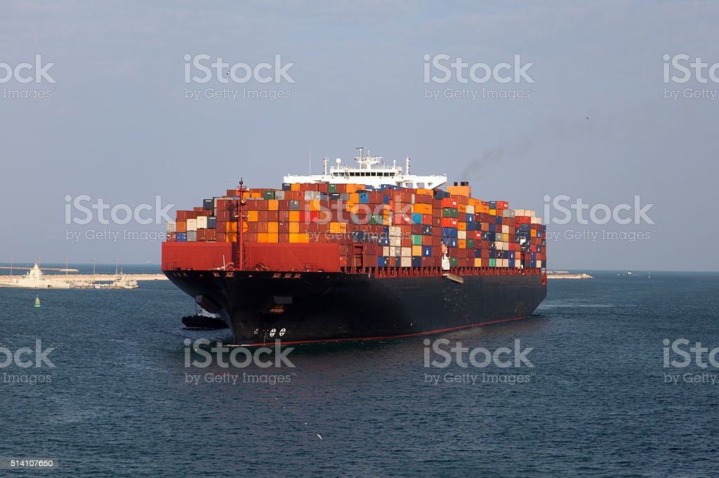 container carrier stock photo