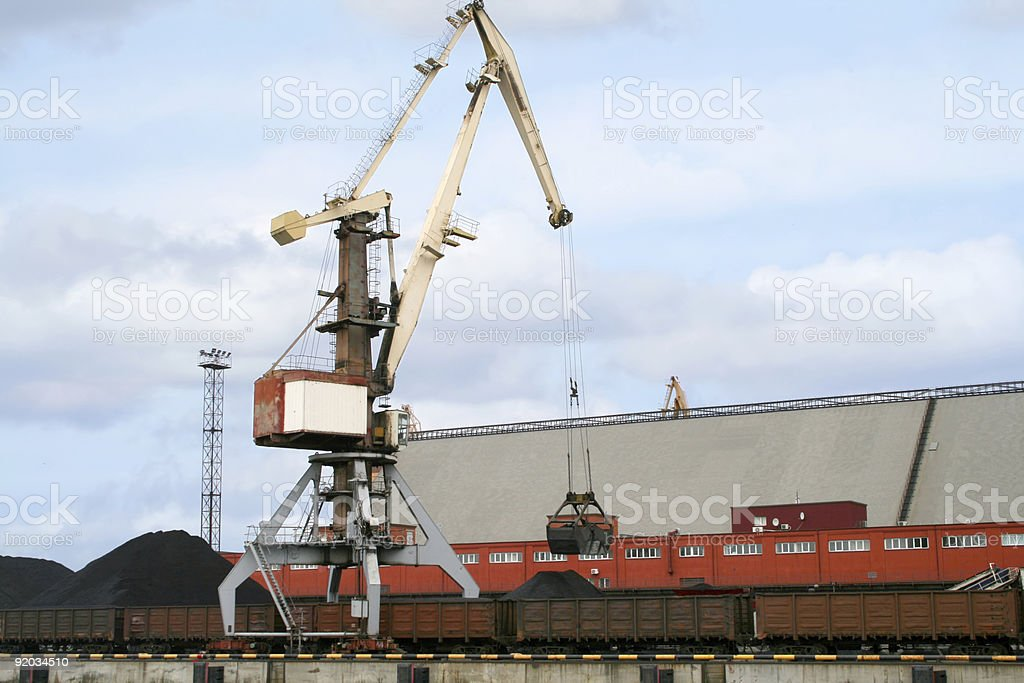 Container cranes 03 royalty-free stock photo