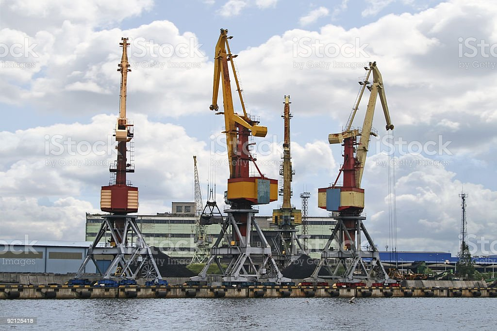 Container cranes 04 royalty-free stock photo
