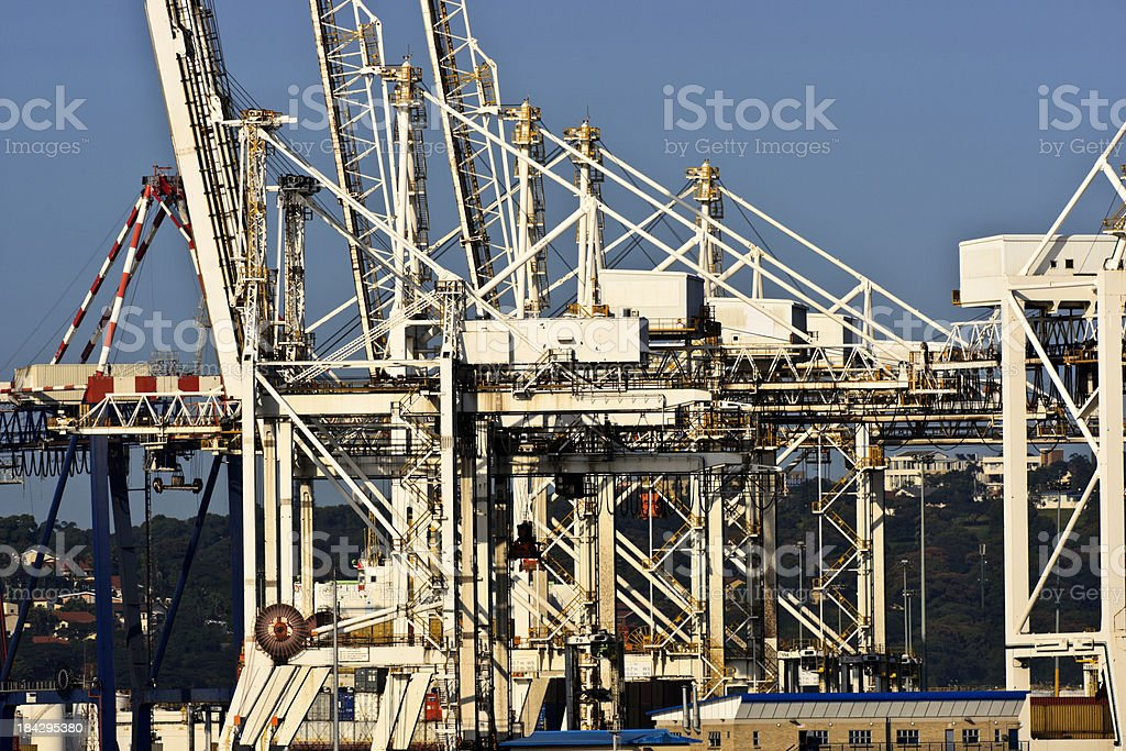 Container cranes in harbour. royalty-free stock photo