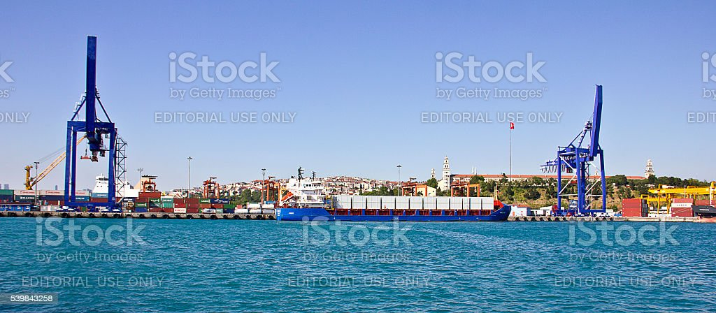 Container Cranes stock photo