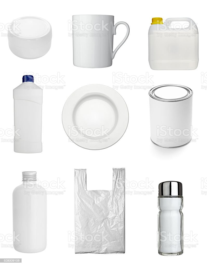 container cup mug bottle and bag stock photo