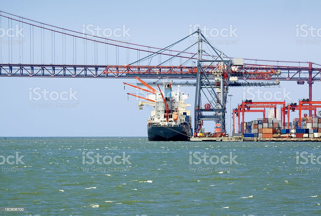 Container Freight royalty-free stock photo