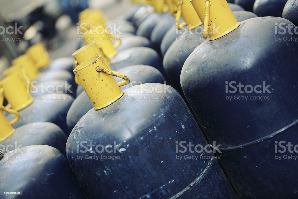 gaz containers royalty-free stock photo