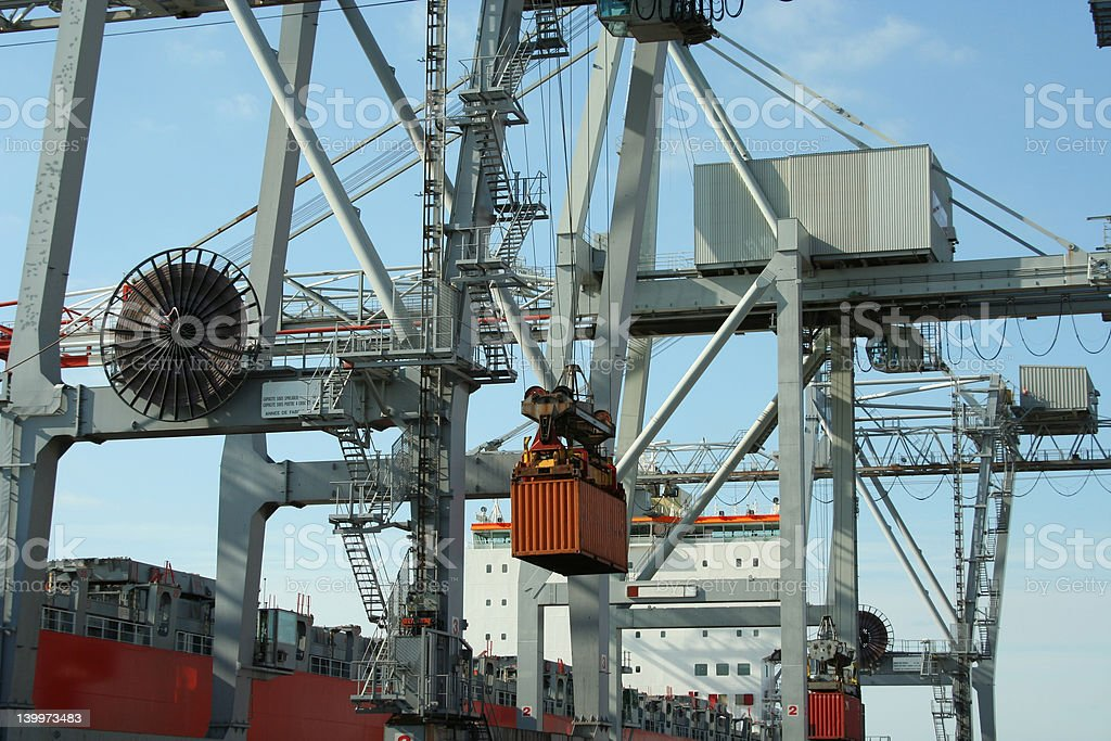 Container handling 2 royalty-free stock photo