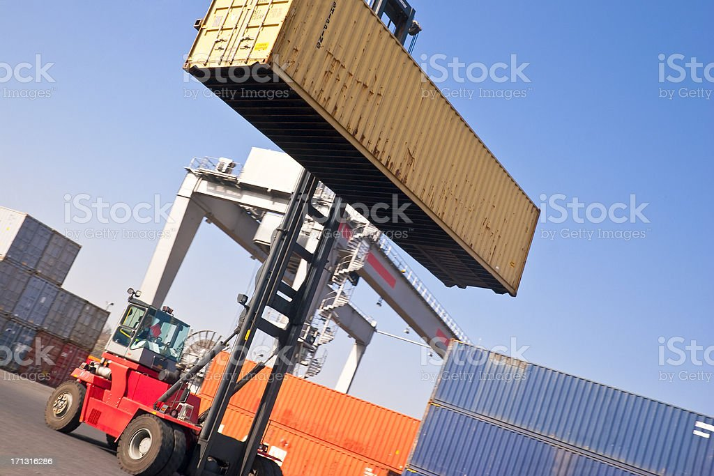 Container Handling stock photo