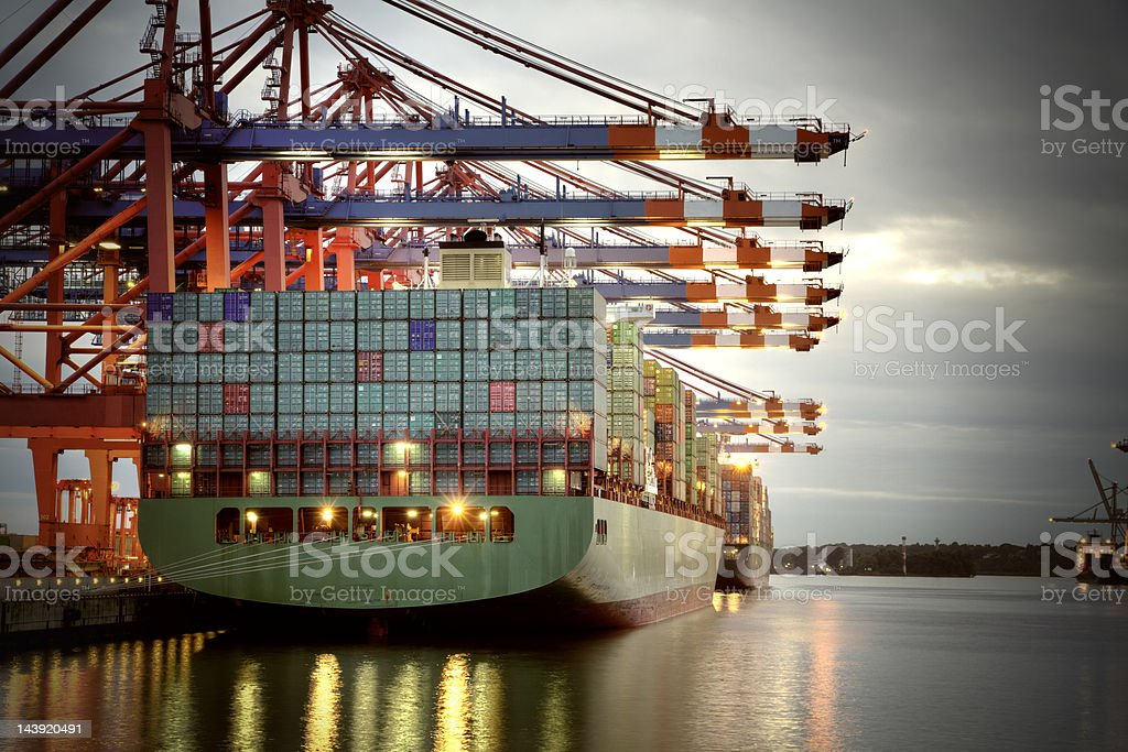 Container Harbor royalty-free stock photo