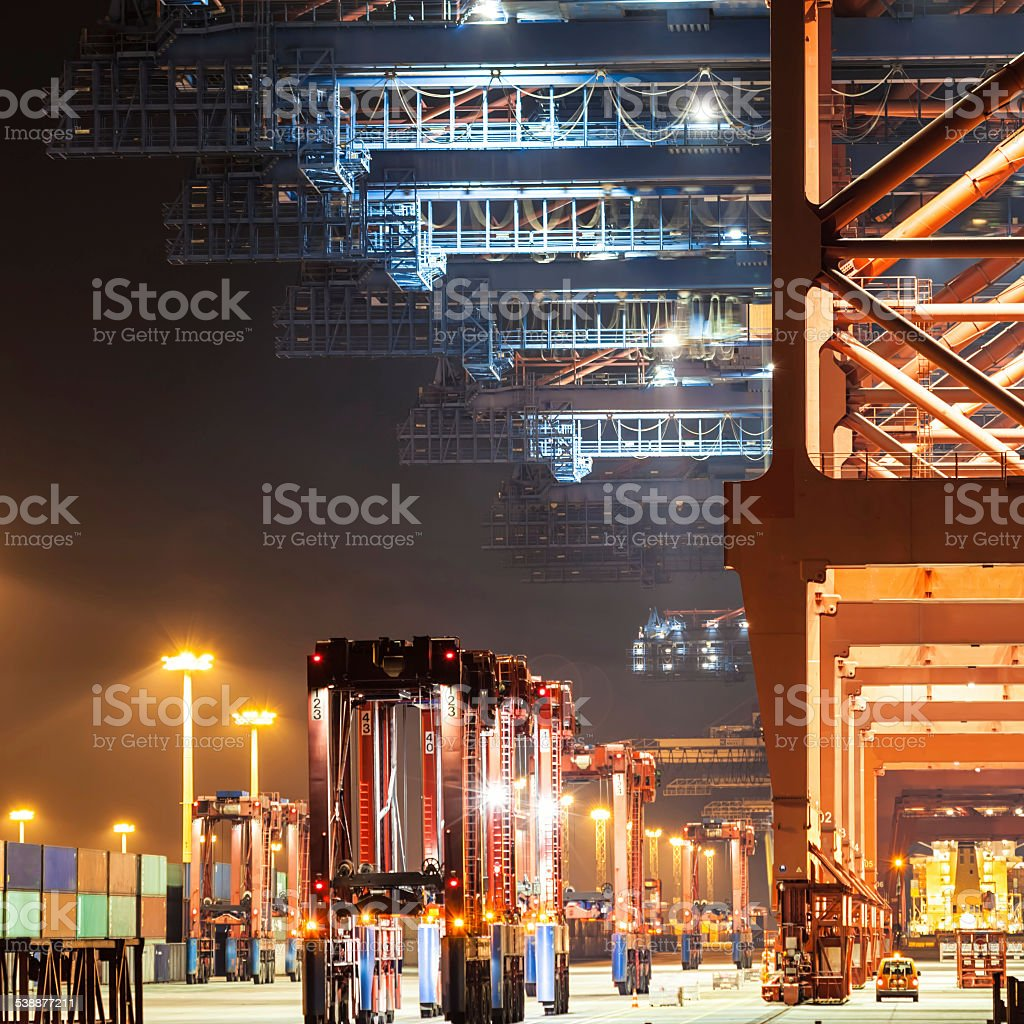 Container Harbor stock photo