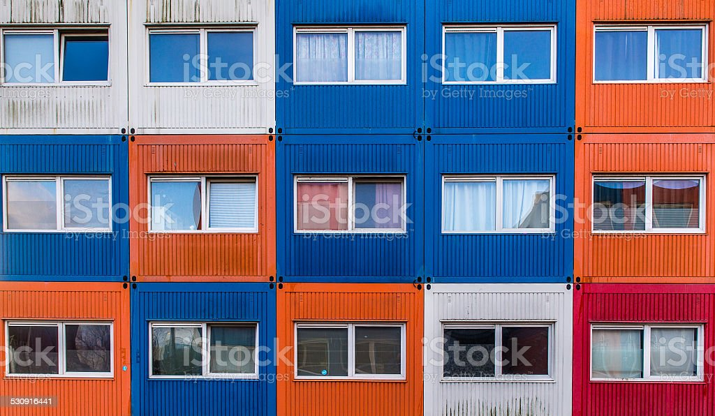 Container homes stock photo