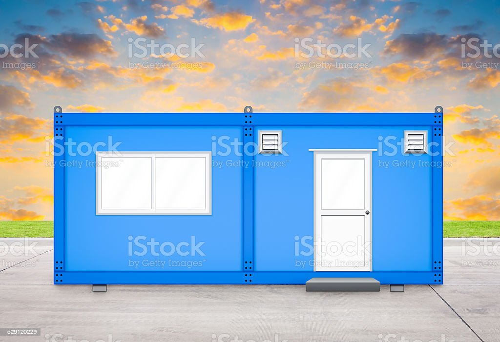 Container house stock photo