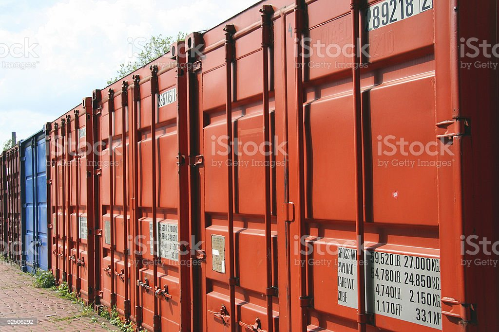 Container in a Row royalty-free stock photo