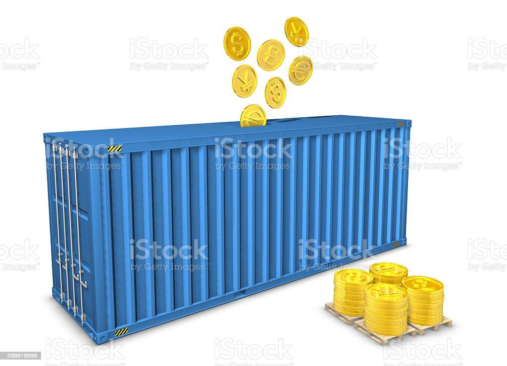 Container Moneybox stock photo