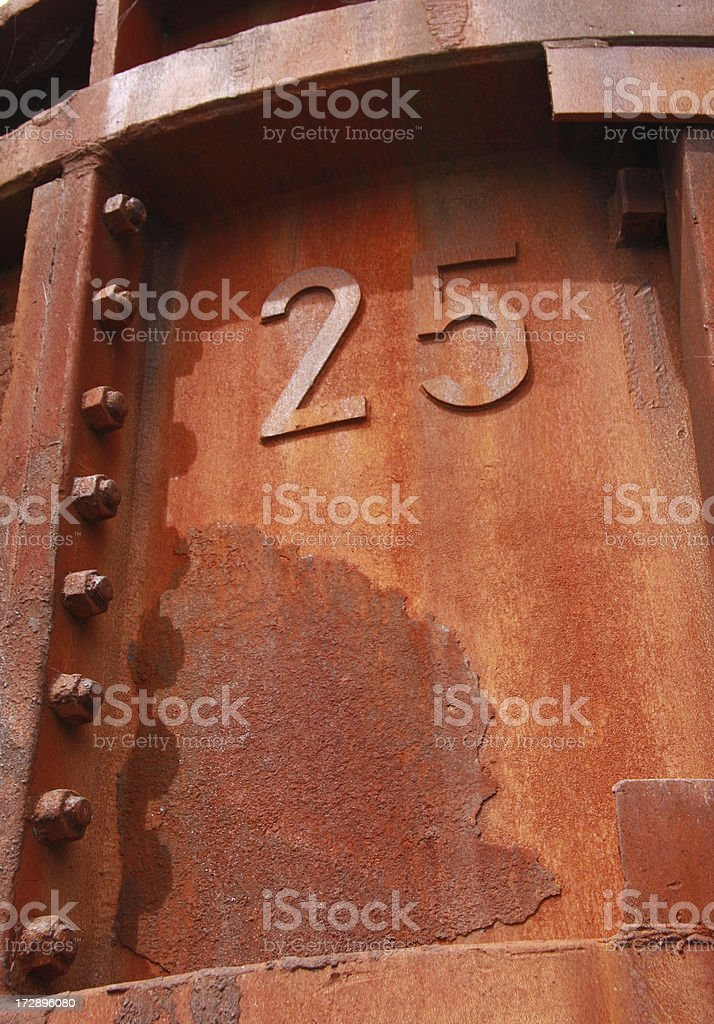 container number 25 royalty-free stock photo