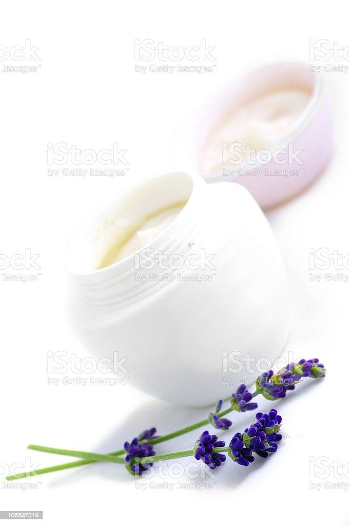 container of cosmetic face cream stock photo