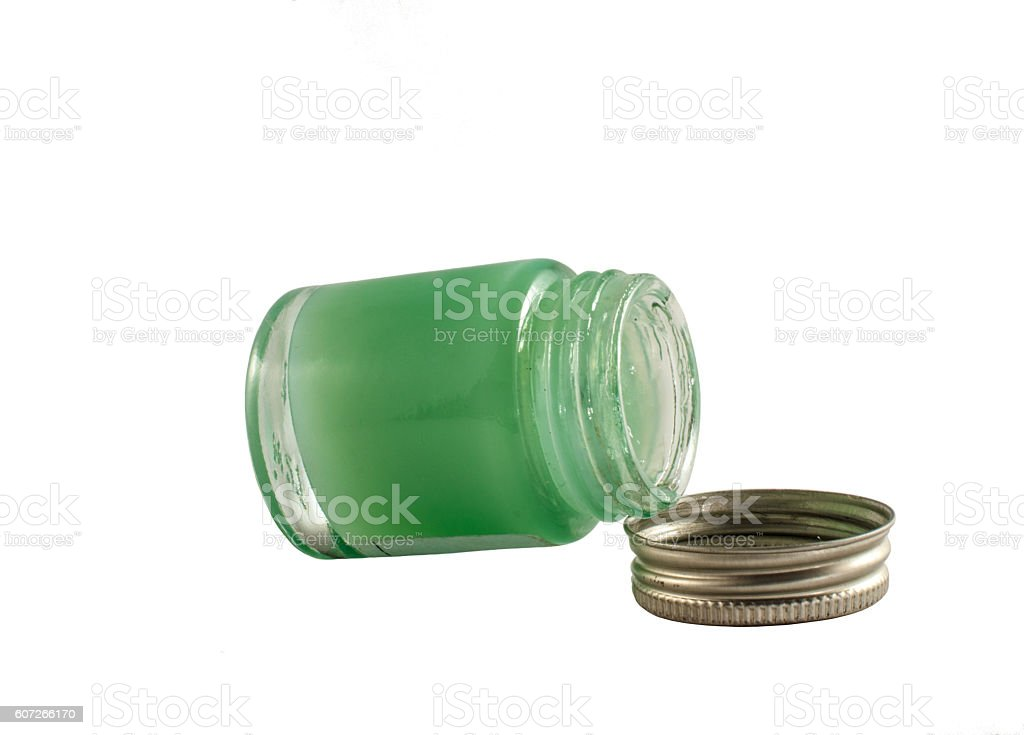 Container of ointment stock photo