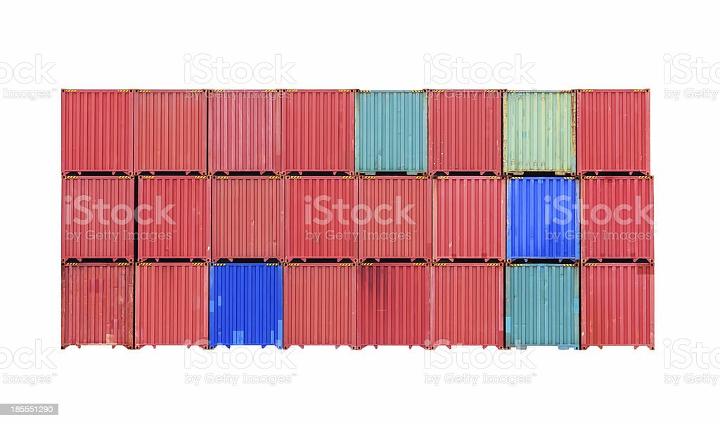 Container on white background royalty-free stock photo