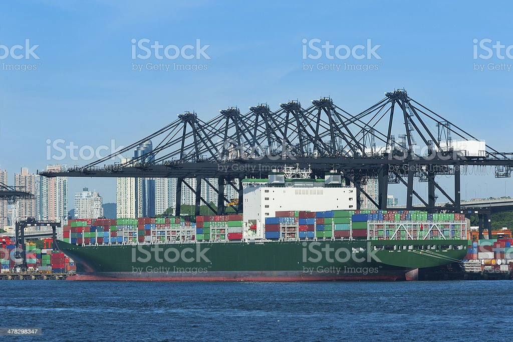 Container port royalty-free stock photo