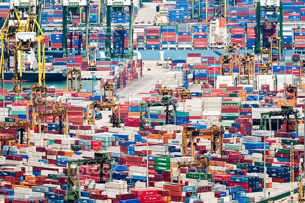 Container Port, Singapore stock photo