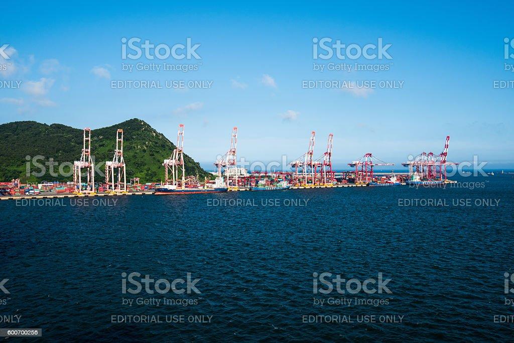container port,Busan, South Korea stock photo