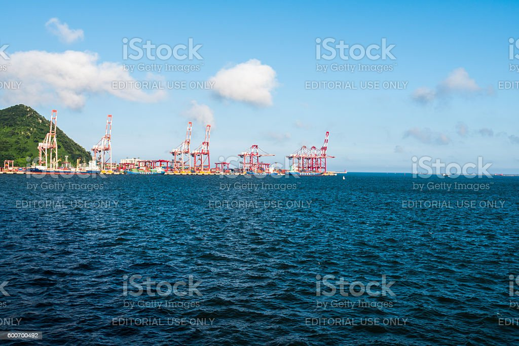 container port,Busan, South Korea stock photo