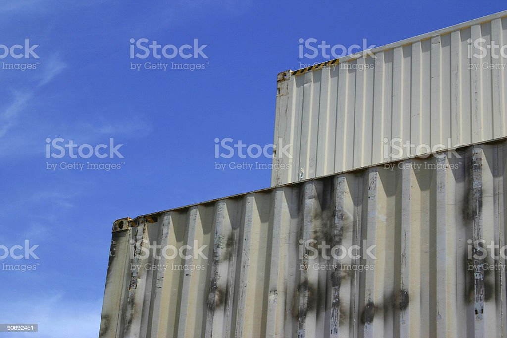 container pyramid royalty-free stock photo