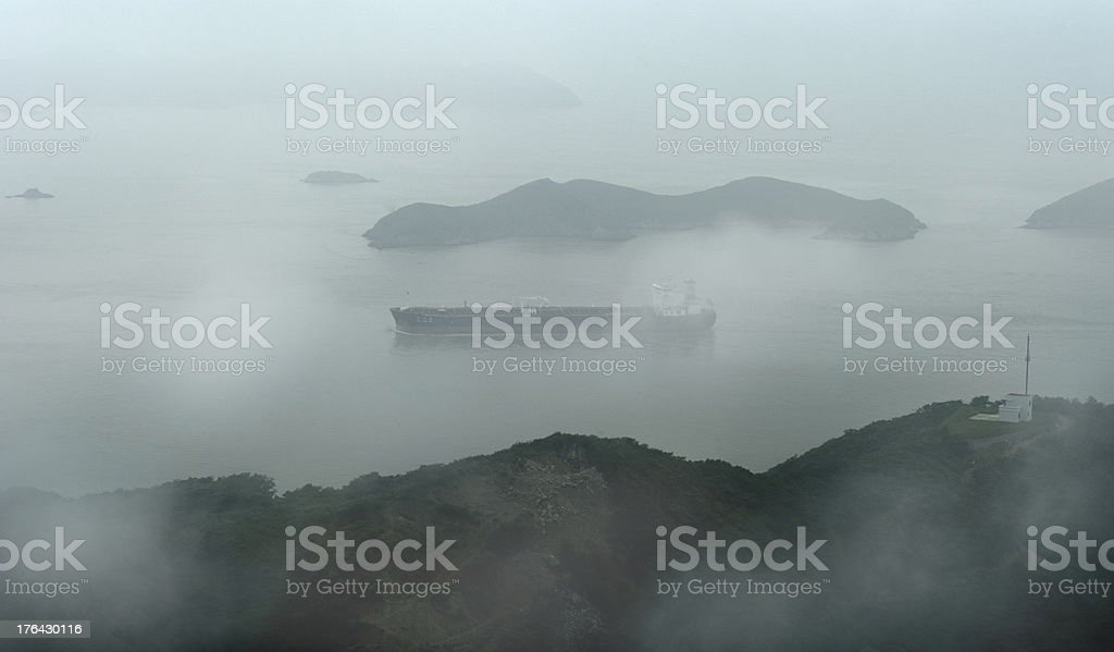 Container Ship Aerial View royalty-free stock photo