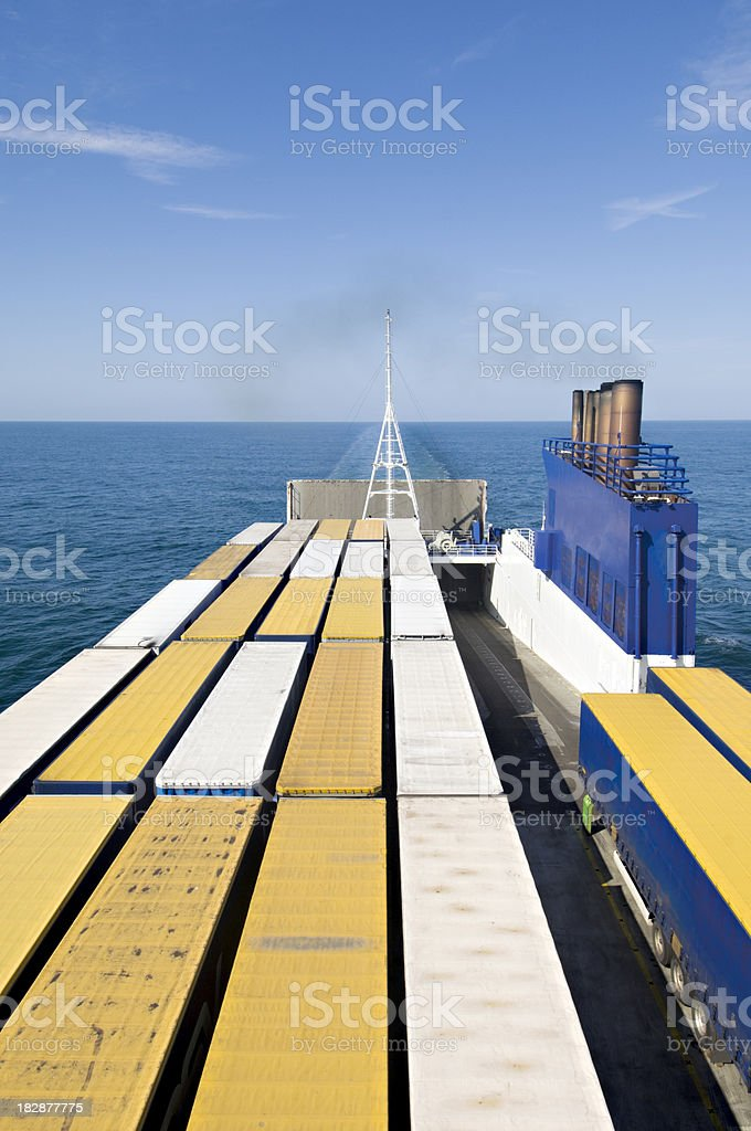 Container Ship at Sea royalty-free stock photo