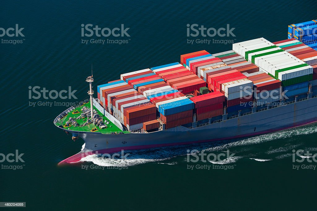Container Ship Bow stock photo
