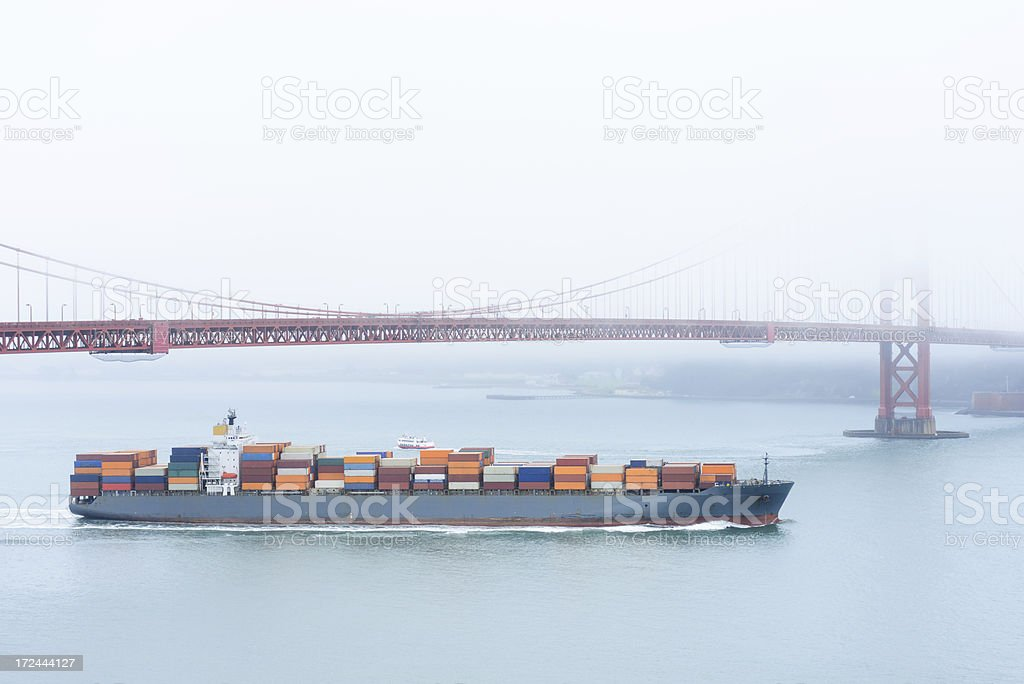 Container Ship Freighter royalty-free stock photo