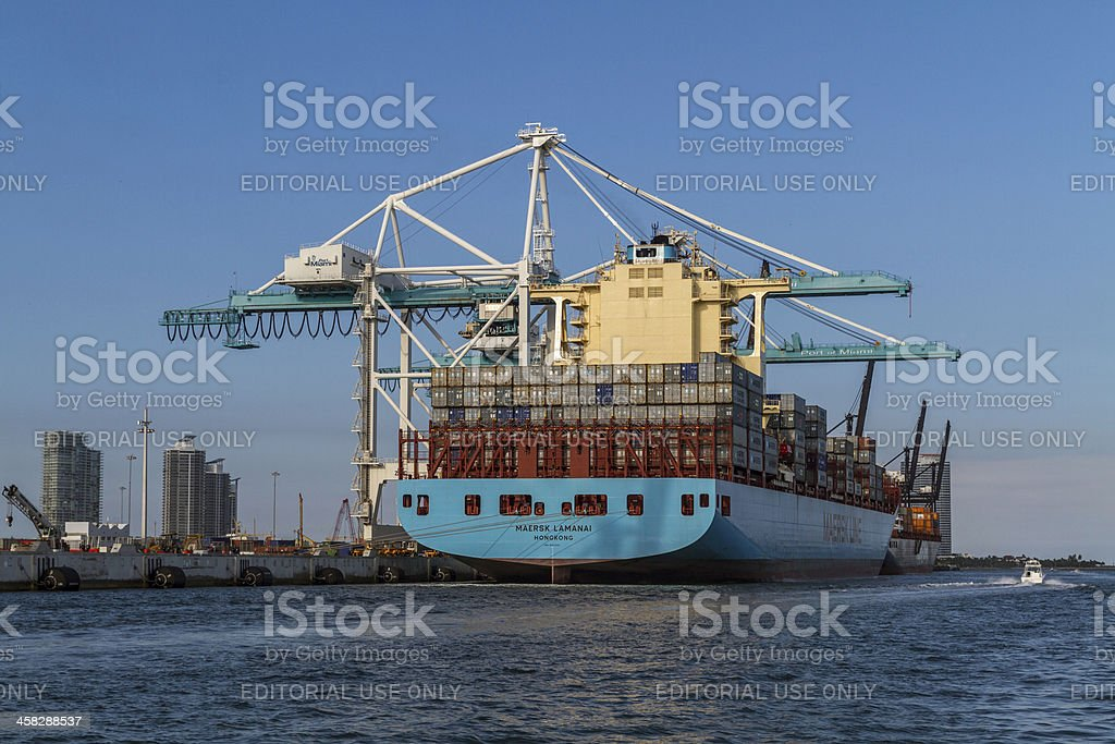 Container Ship II royalty-free stock photo