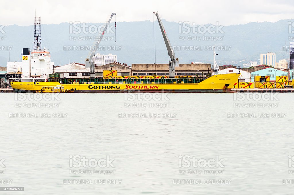 Container Ship in Philippines stock photo