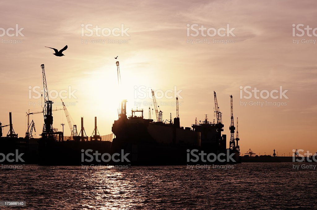 container ship in the dock... royalty-free stock photo