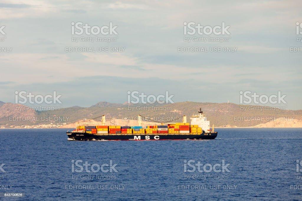 Container ship or cargo ship stock photo