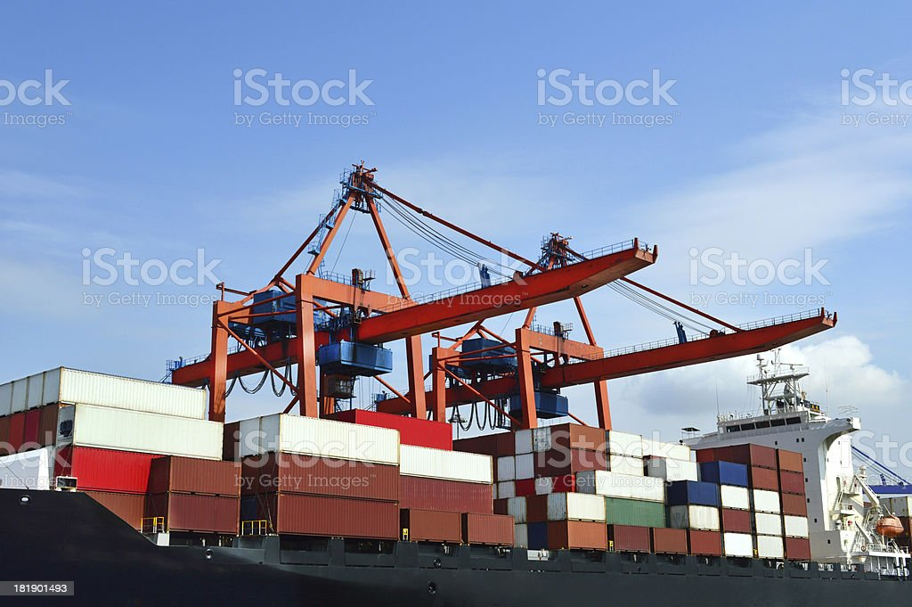 Container Ship (Click for more) royalty-free stock photo