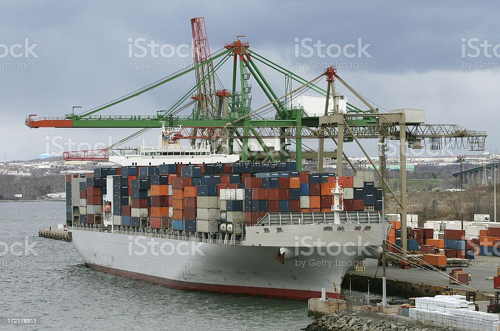 Container Ship Unloading royalty-free stock photo
