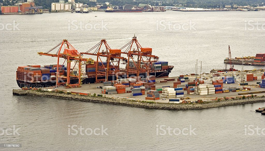 container shipping stock photo