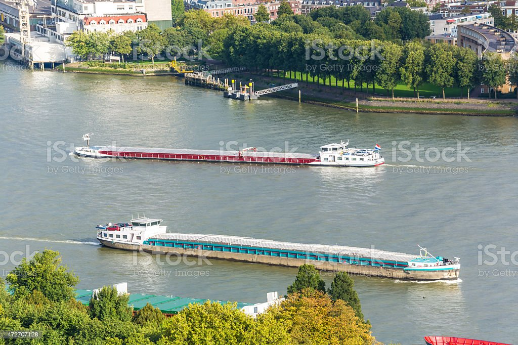 Container Ships in Rotterdam stock photo