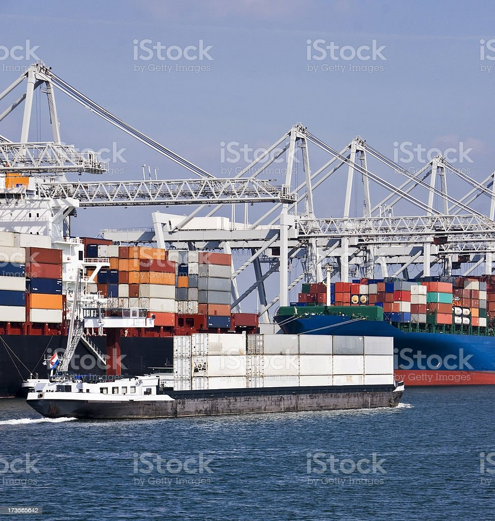 Container  ships royalty-free stock photo