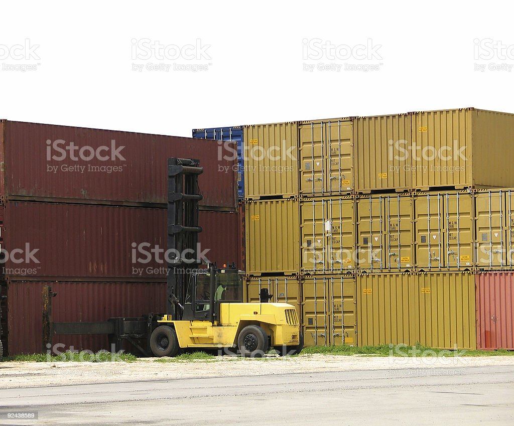Container stacks royalty-free stock photo
