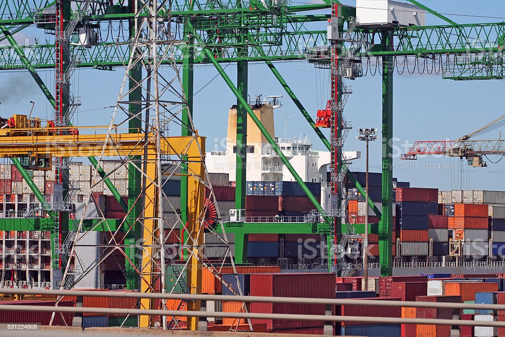 Container Terminal Complexity stock photo
