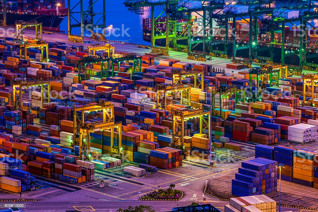 Container Terminal in Singapore stock photo