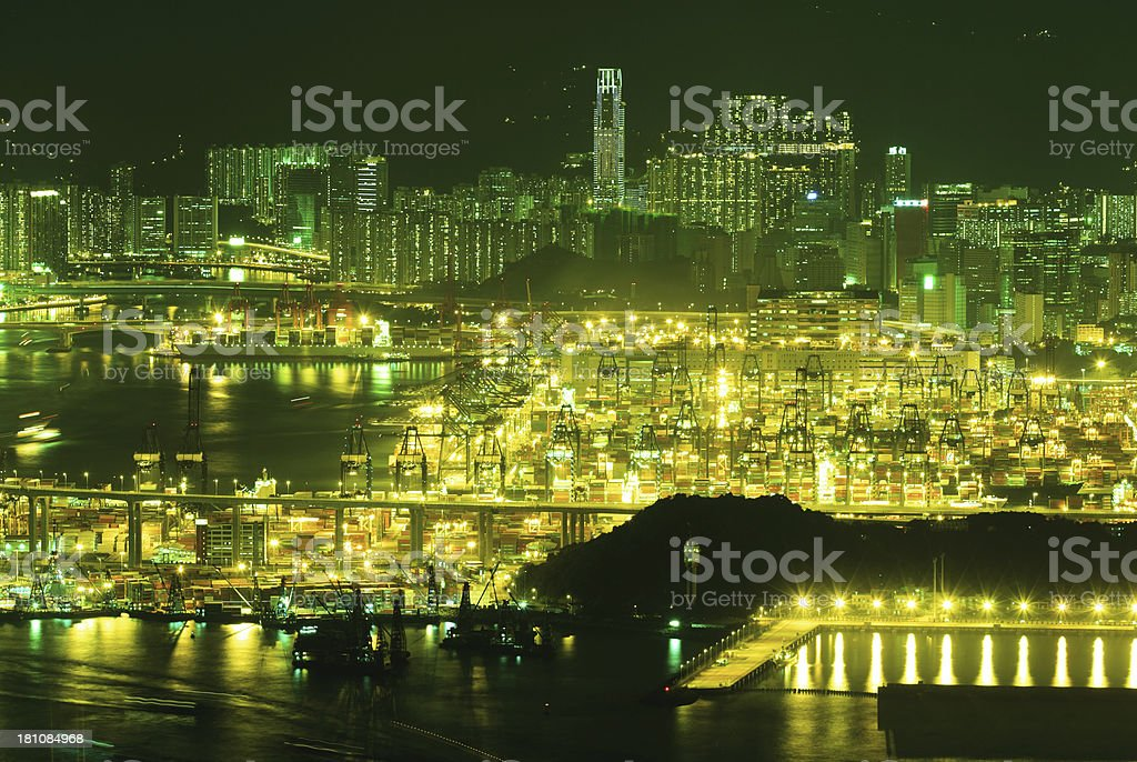 Container Terminals Hong Kong royalty-free stock photo