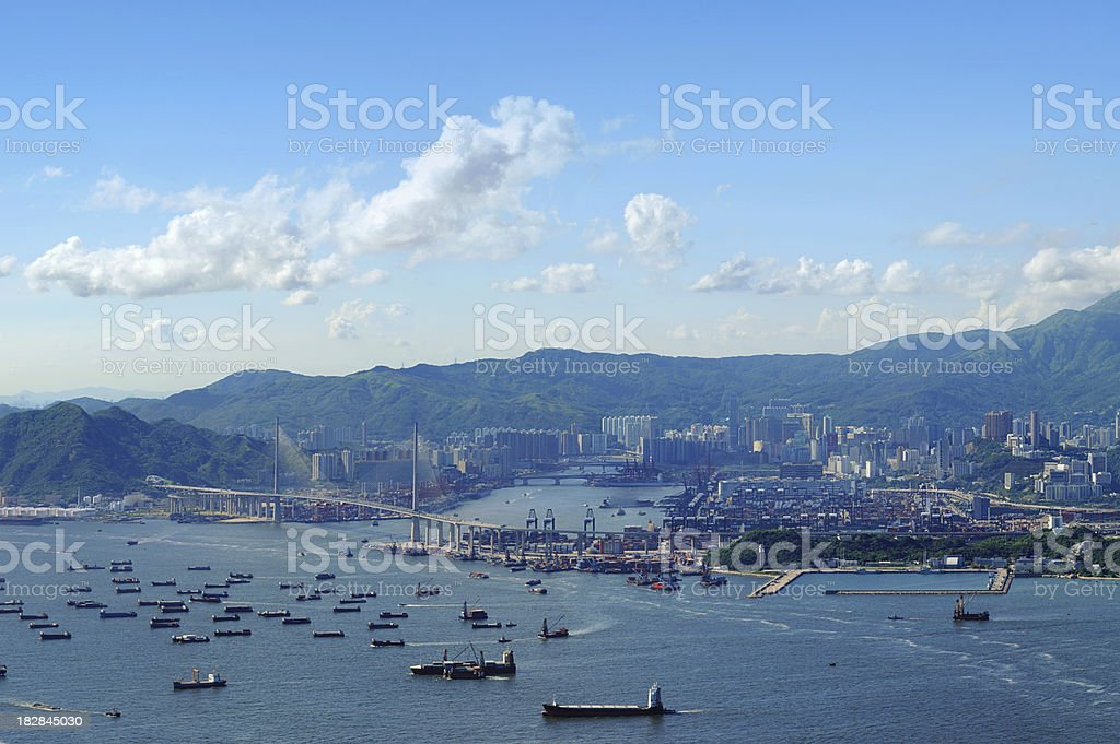 Container Terminals Hong Kong royalty-free stock photo