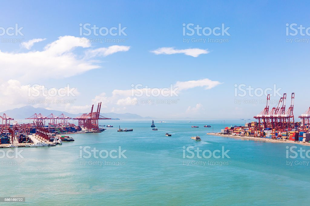 container terminals stock photo