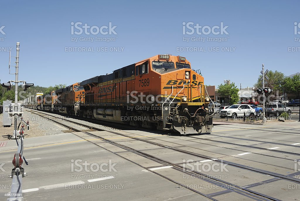 BNSF Container Train at Flagstaff royalty-free stock photo