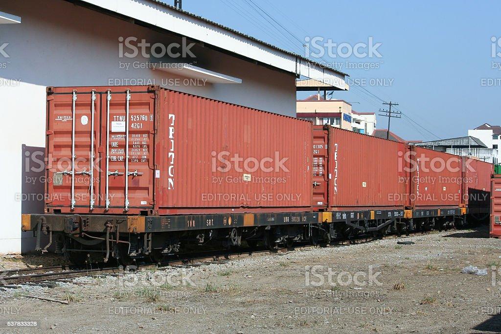 Container Train stock photo