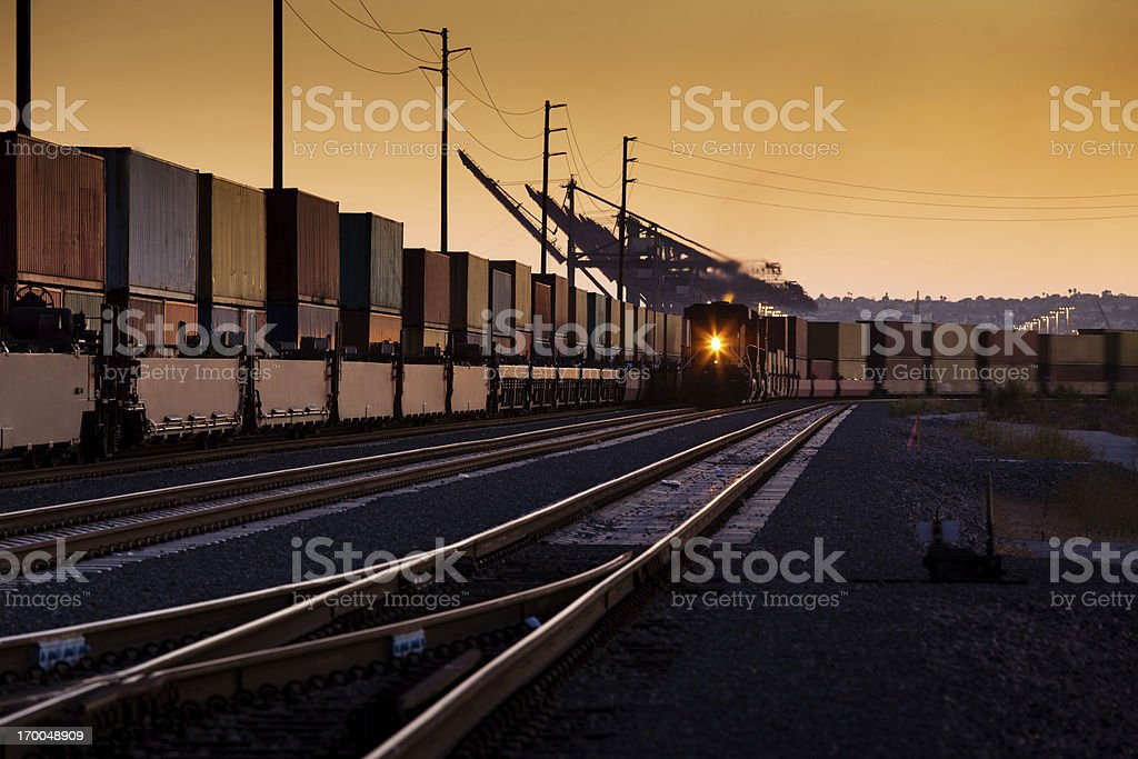 Container Trains royalty-free stock photo